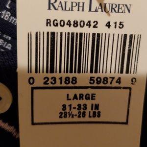 Ralph Lauren One Pieces - Ralph Lauren Blue / Pink Romper NWT Large 12-18m